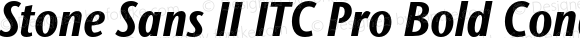 Stone Sans II ITC Pro Bold Condensed Italic