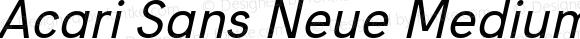 Acari Sans Neue Medium Italic