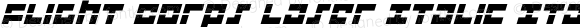 Flight Corps Laser Italic