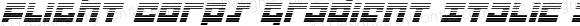 Flight Corps Gradient Italic
