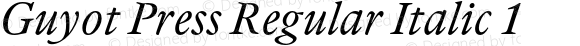 Guyot Press Regular Italic 1