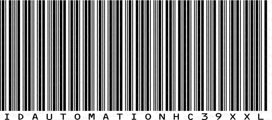 IDAutomationHC39XXL Regular Version 5.02 2005