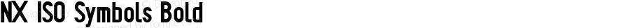 NX ISO Symbols Bold Version 1.001