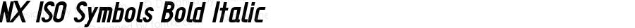 NX ISO Symbols Bold Italic Version 1.001