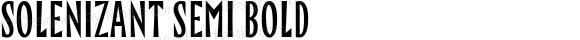 Solenizant Semi Bold