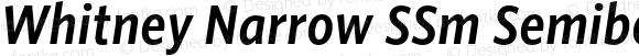 Whitney Narrow SSm Semibold Italic