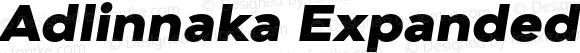 Adlinnaka Expanded Oblique Black