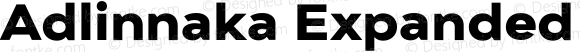 Adlinnaka Expanded Ultra Bold
