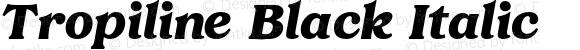 Tropiline Black Italic