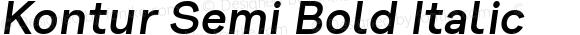 Kontur Semi Bold Italic