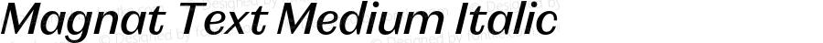 Magnat Text Medium Italic Version 1.000;PS 001.000;hotconv 1.0.88;makeotf.lib2.5.64775
