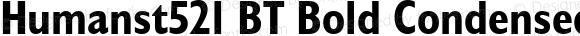 Humanst521 BT Bold Condensed Italic