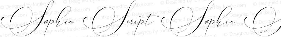 Sophia Script Sophia Script Bold Version 1.000;PS 001.000;hotconv 1.0.88;makeotf.lib2.5.64775