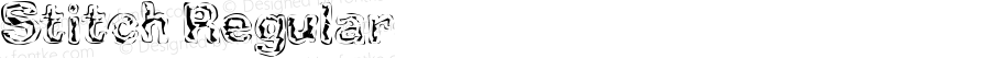 Stitch Regular Macromedia Fontographer 4.1.5 11/17/00