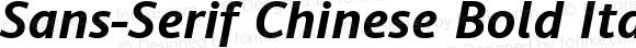 Sans-Serif Chinese Bold Italic