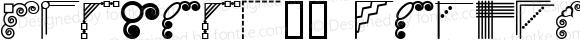 Corners_1 Regular Macromedia Fontographer 4.1 8/28/00