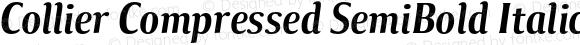 Collier Compressed SemiBold Italic