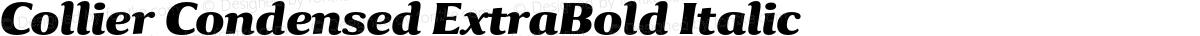 Collier Condensed ExtraBold Italic