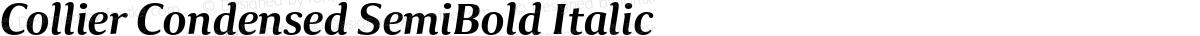 Collier Condensed SemiBold Italic