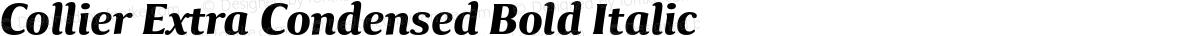 Collier Extra Condensed Bold Italic