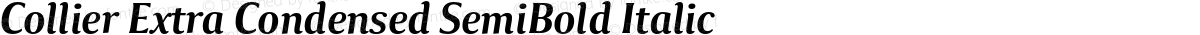 Collier Extra Condensed SemiBold Italic