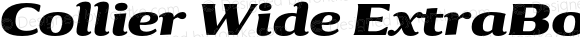 Collier Wide ExtraBold Italic