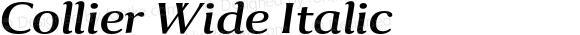 Collier Wide Italic