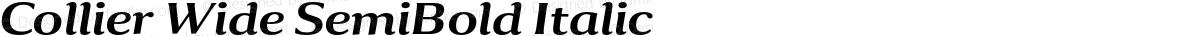 Collier Wide SemiBold Italic