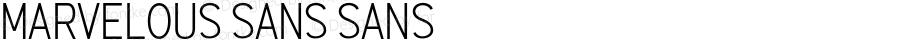 Marvelous Sans Sans Version 001.000