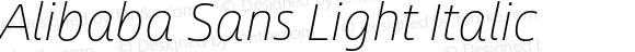Alibaba Sans Light Italic