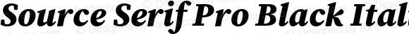 Source Serif Pro Black Italic