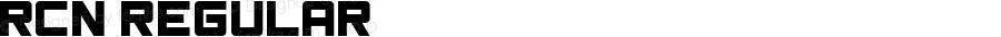 RCN Regular Version 1.00;September 12, 2018;FontCreator 11.5.0.2421 32-bit