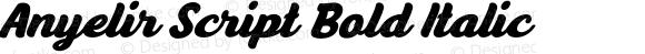 Anyelir Script Bold Italic