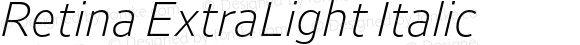 Retina ExtraLight Italic