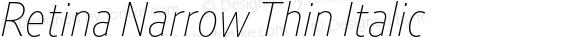 Retina Narrow Thin Italic