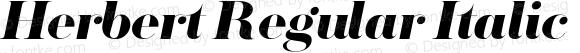 Herbert Regular Italic