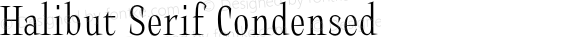 Halibut Serif Condensed