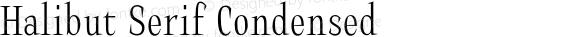 Halibut Serif Condensed