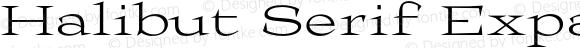 Halibut Serif Expanded