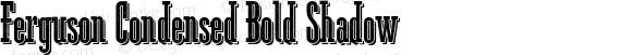 Ferguson Condensed Bold Shadow