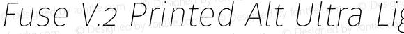 Fuse V.2 Printed Alt Ultra Light Italic