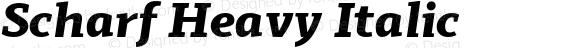 Scharf Heavy Italic