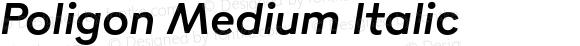 Poligon Medium Italic