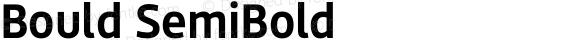 Bould SemiBold