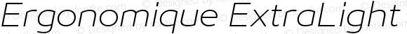 Ergonomique ExtraLight Italic
