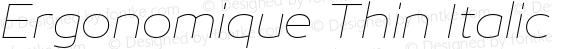 Ergonomique Thin Italic