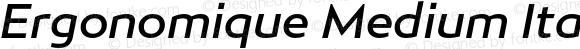 Ergonomique Medium Italic