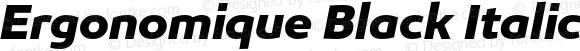 Ergonomique Black Italic