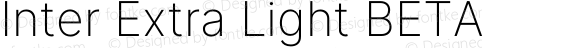 Inter Extra Light BETA