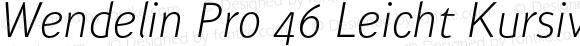 Wendelin Pro 46 Leicht Kursiv